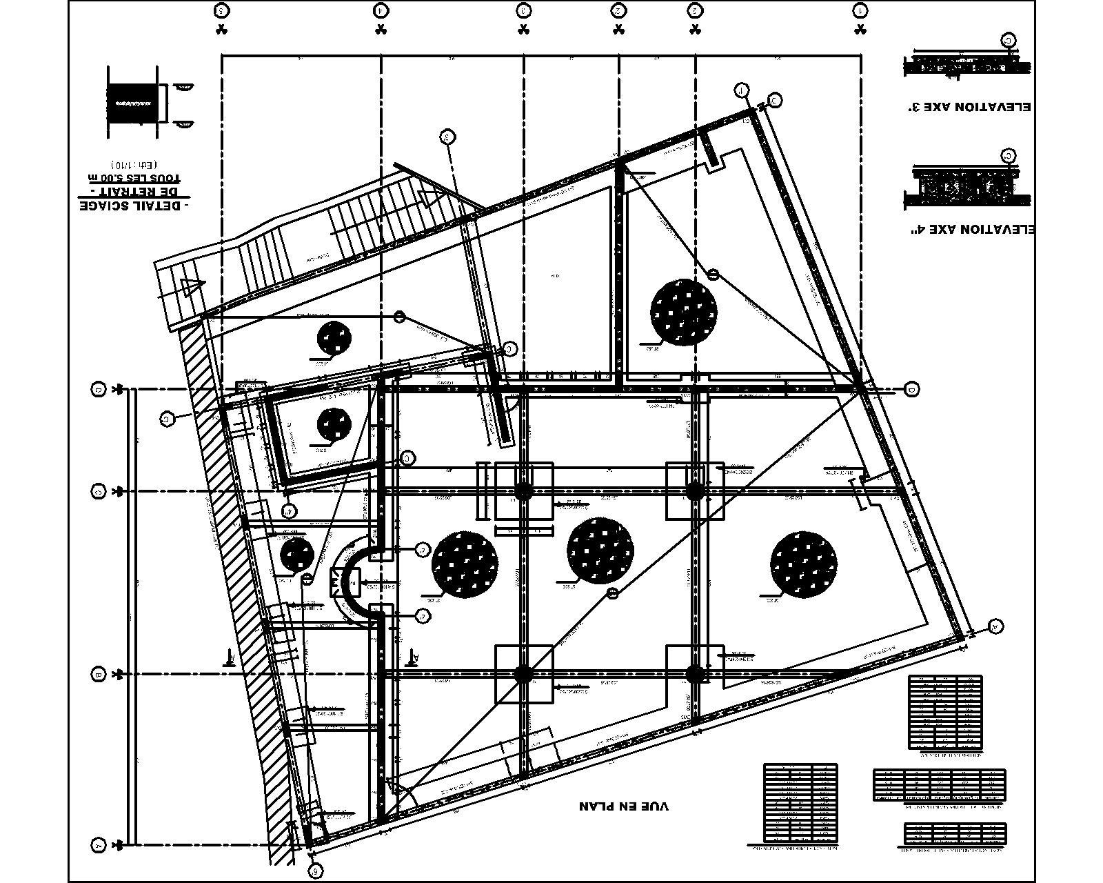 Plan de coffrage d une villa maison moderne for Dessin fondation maison